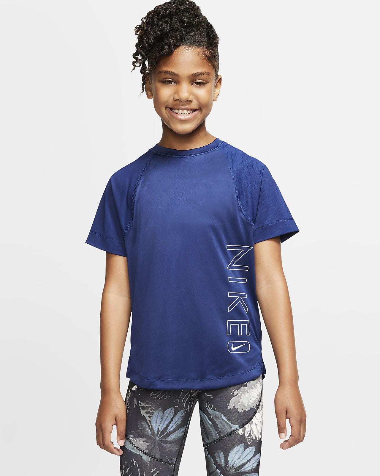 Nike Dri-FIT Samarreta de màniga curta estampada d'entrenament - Nena