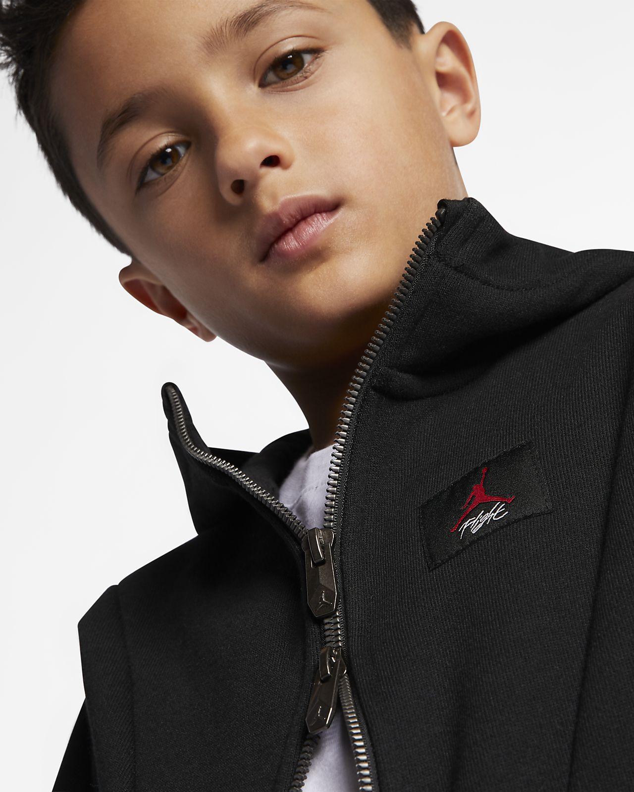 Sweat à capuche entièrement zippé Jordan Flight Lite pour Jeune enfant