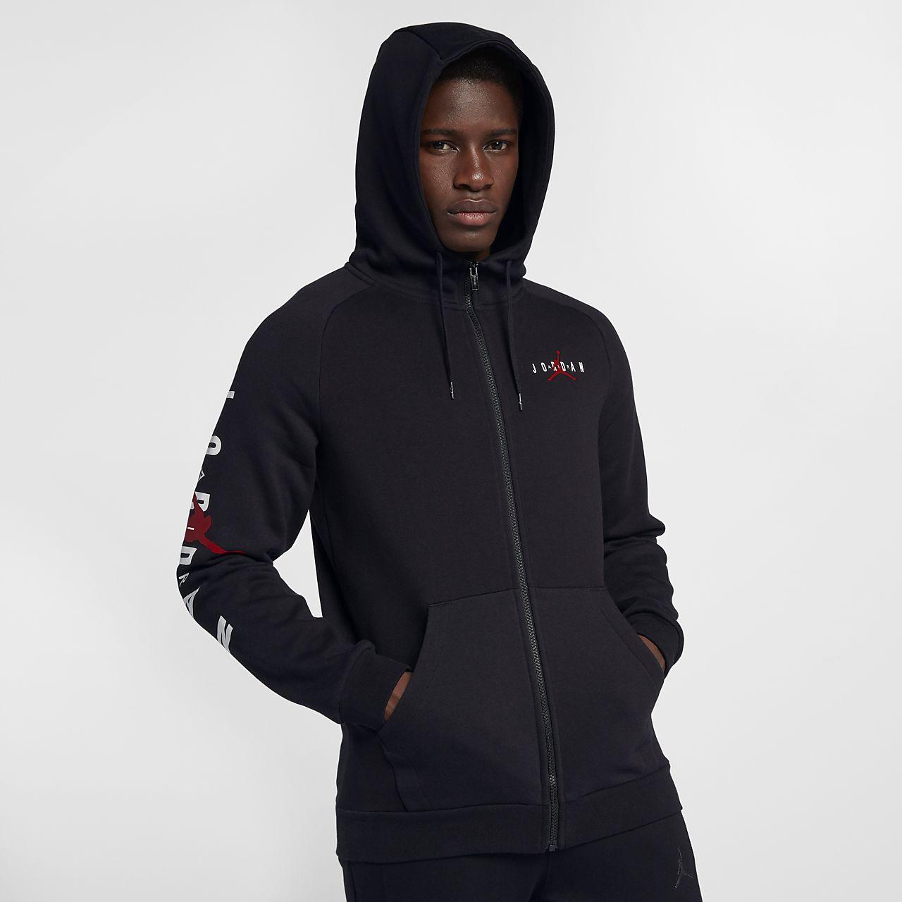 816504be9859 ... Sweat à capuche entièrement zippé en tissu Fleece Jordan Jumpman Air pour  Homme