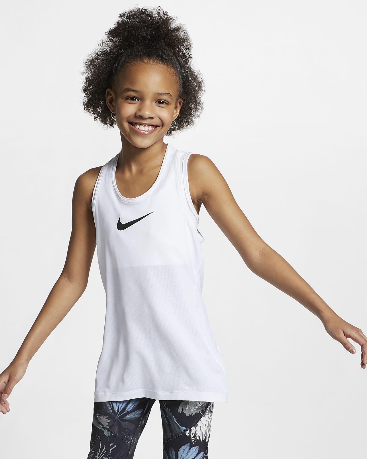 7614b28212b13 Débardeur Nike Pro pour Fille plus âgée. Nike.com CA