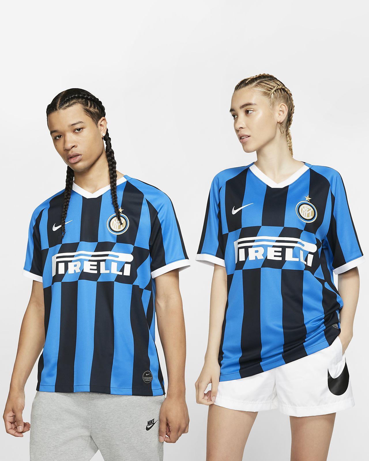 low priced d81d6 dc771 Inter Milan 2019/20 Stadium Home Football Shirt