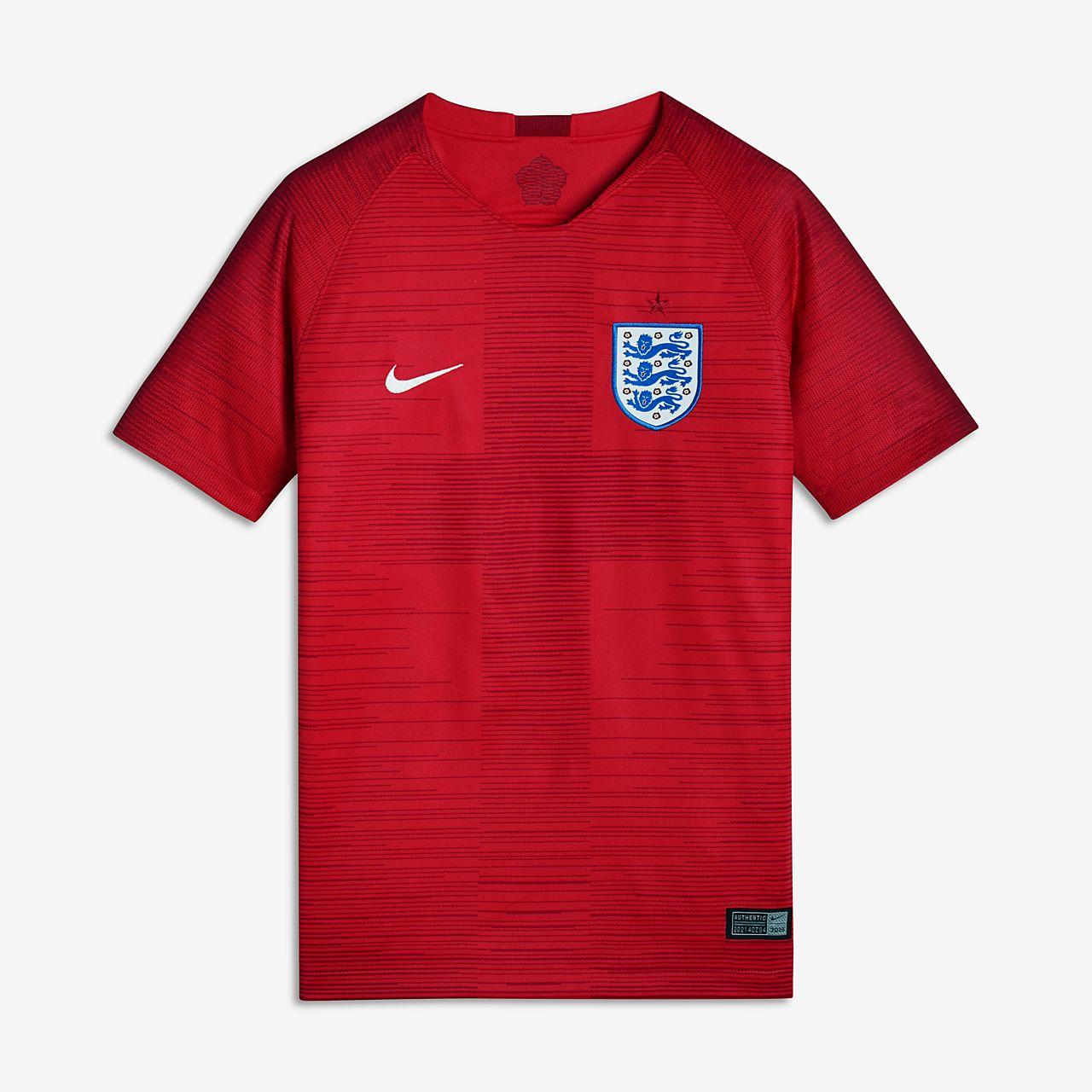 เสื้อแข่งฟุตบอลเด็กโต 2018 England Stadium Away