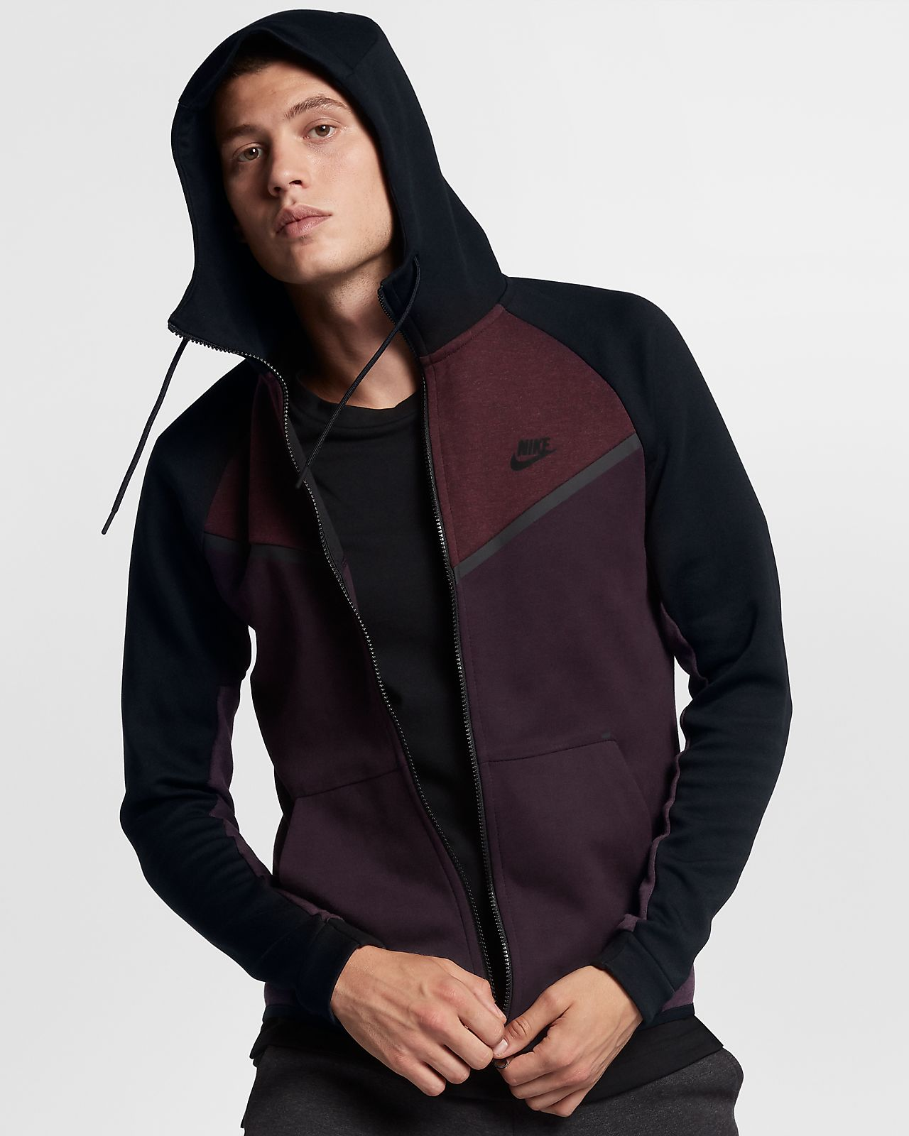 nike sportswear tech fleece windrunner men 39 s full zip hoodie au. Black Bedroom Furniture Sets. Home Design Ideas