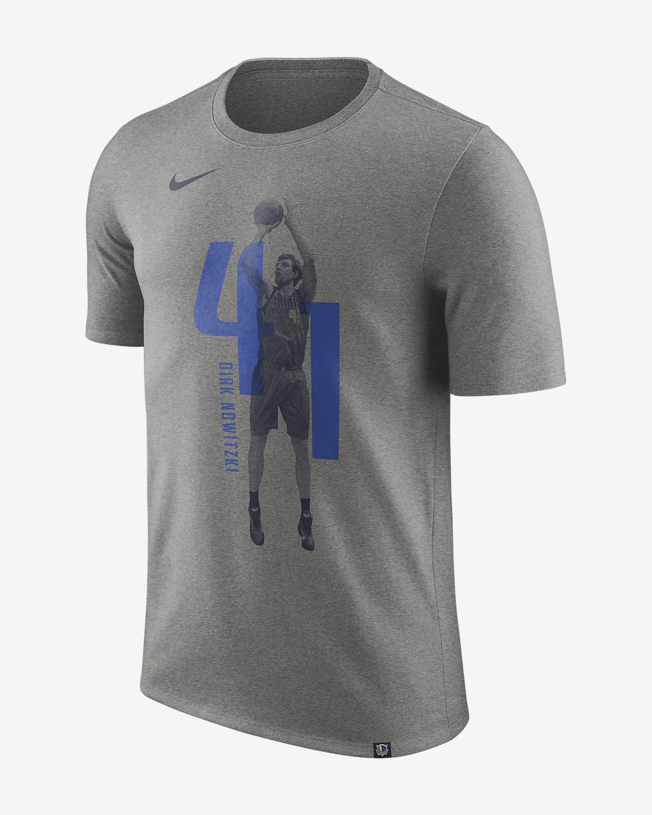 Dirk Nowitzki Dallas Mavericks Nike Dry NBA-T-skjorte for herre