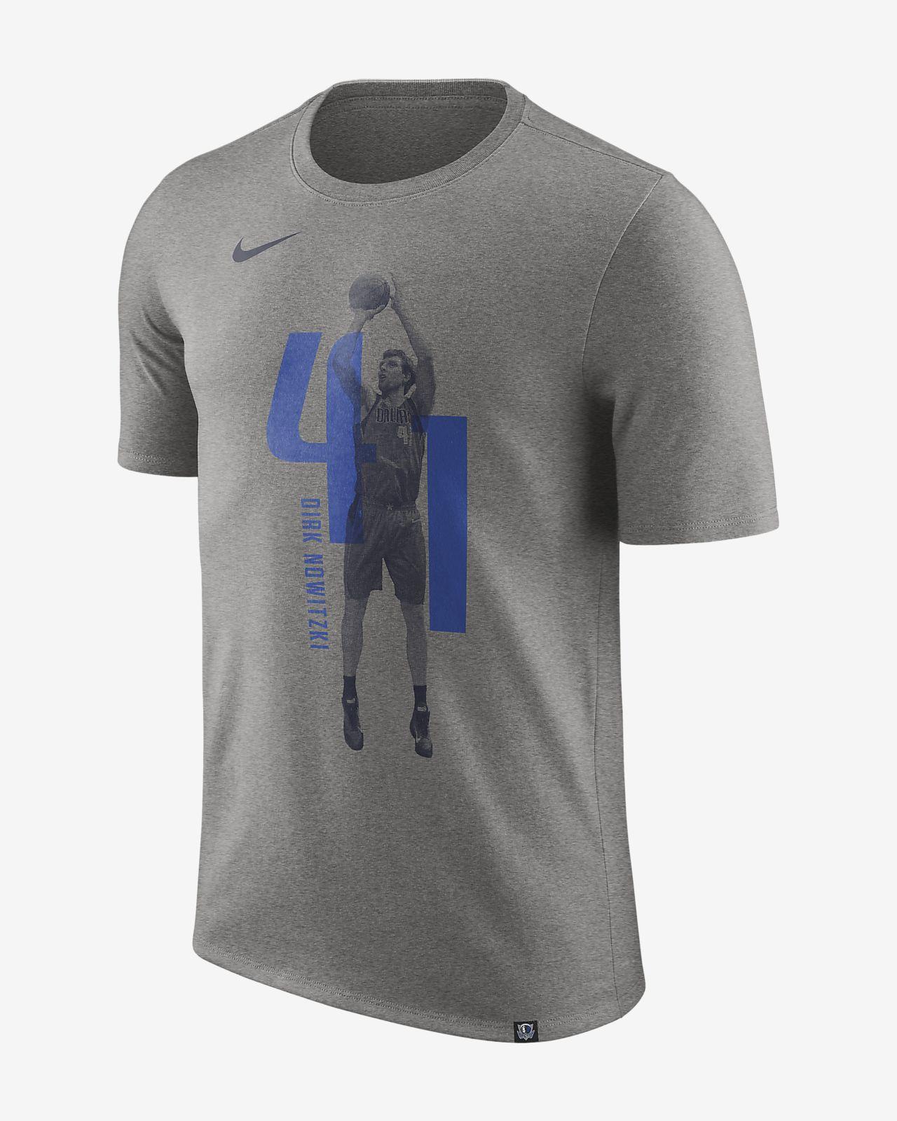T-shirt NBA Dirk Nowitzki Dallas Mavericks Nike Dry para homem