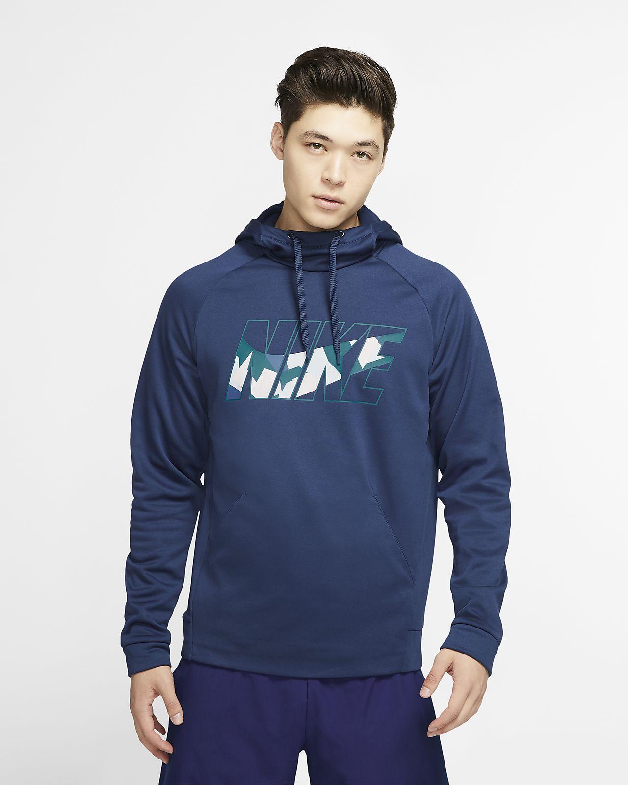 Nike Therma træningshættetrøje til mænd. Nike DK