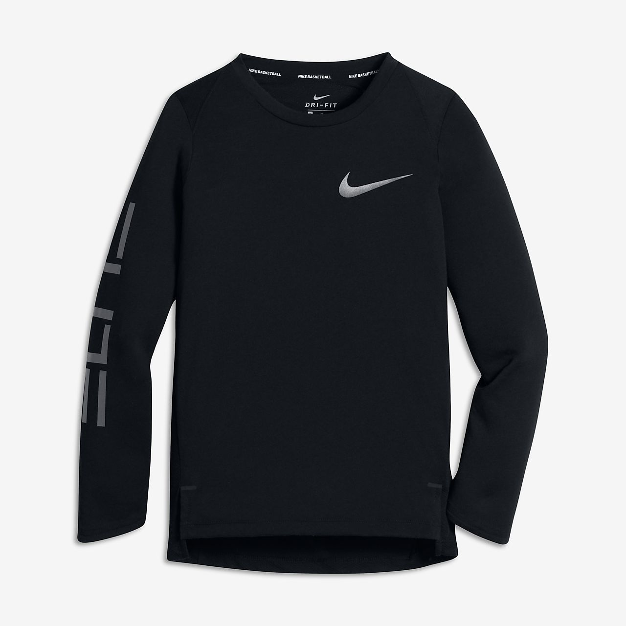 Nike Dri-FIT Elite Big Kids' (Boys') Long Sleeve Basketball Top ...