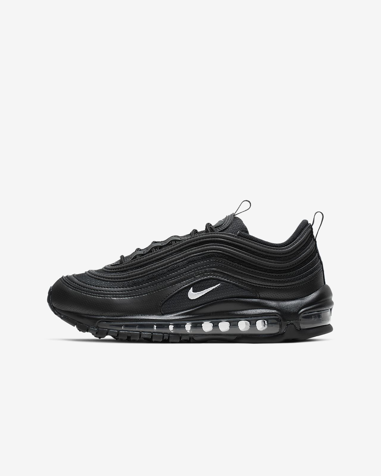 Big Discount UA Air Max 97 Black Sneakers with Black Logo en