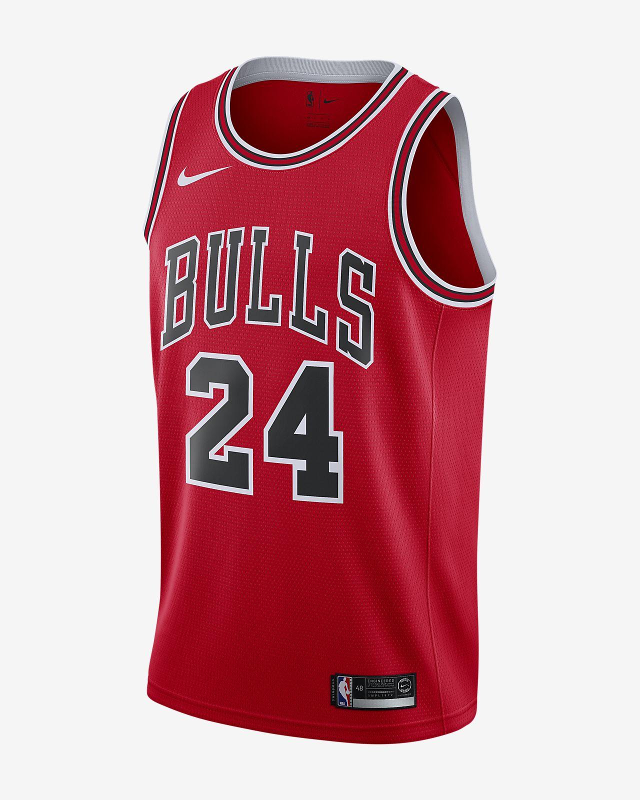 Lauri Markkanen Bulls – Icon Edition Nike NBA Swingman-trøje til mænd