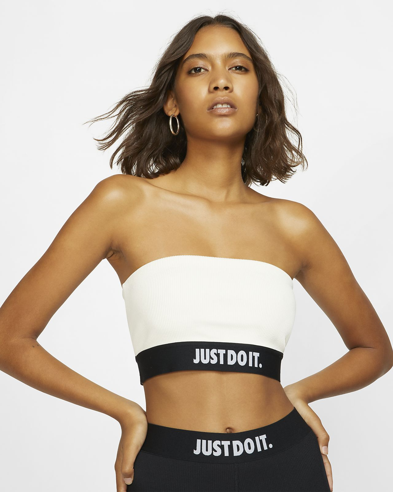 Γυναικεία στράπλες μπλούζα σε ριμπ ύφανση Nike Sportswear JDI