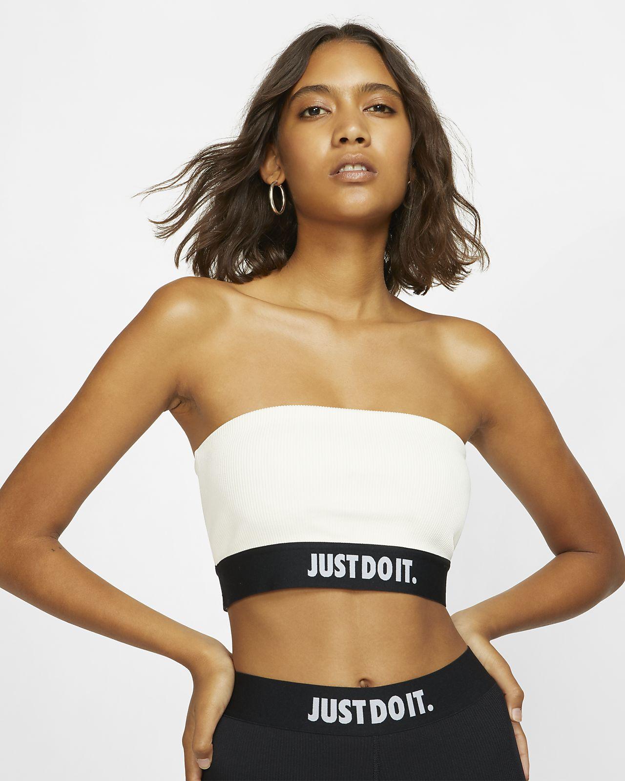 Nike Sportswear JDI geripptes Tube-Top für Damen