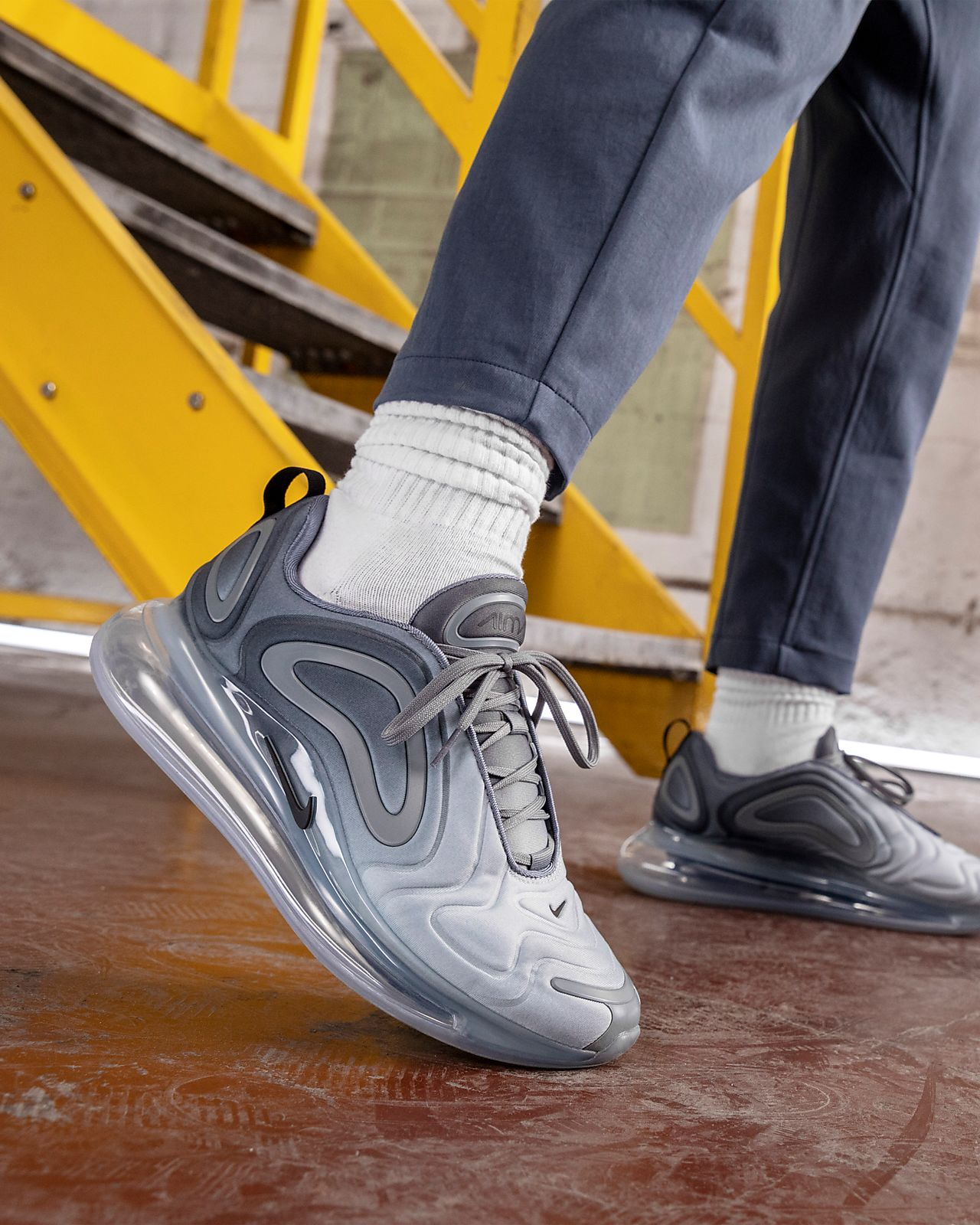 Air Max 720 On Feet Grey