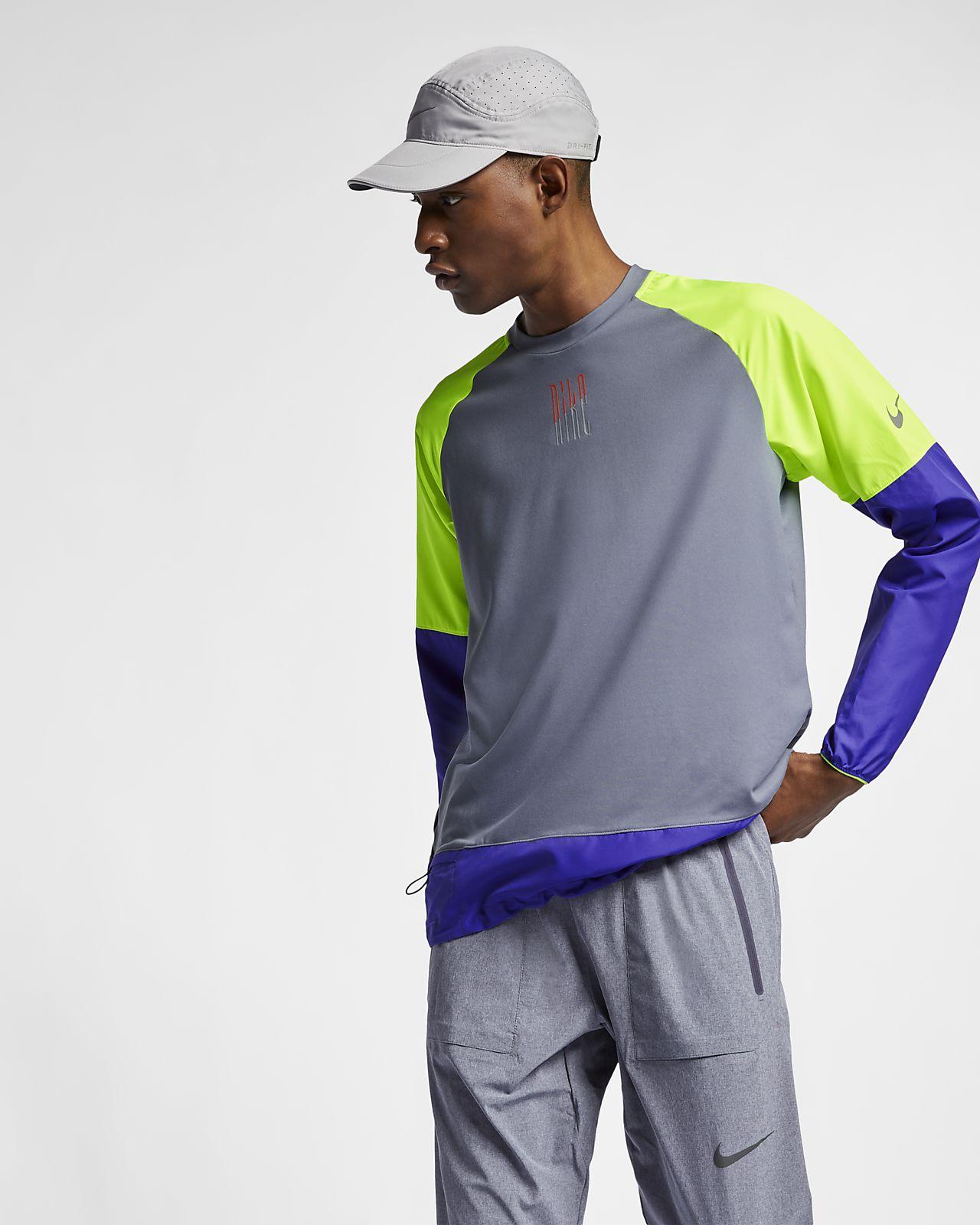 Hombre Nike Running Es Camiseta Manga De Larga Xp1qXv