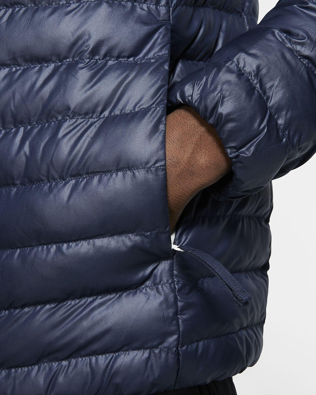 Nike black high neck puffer jacket