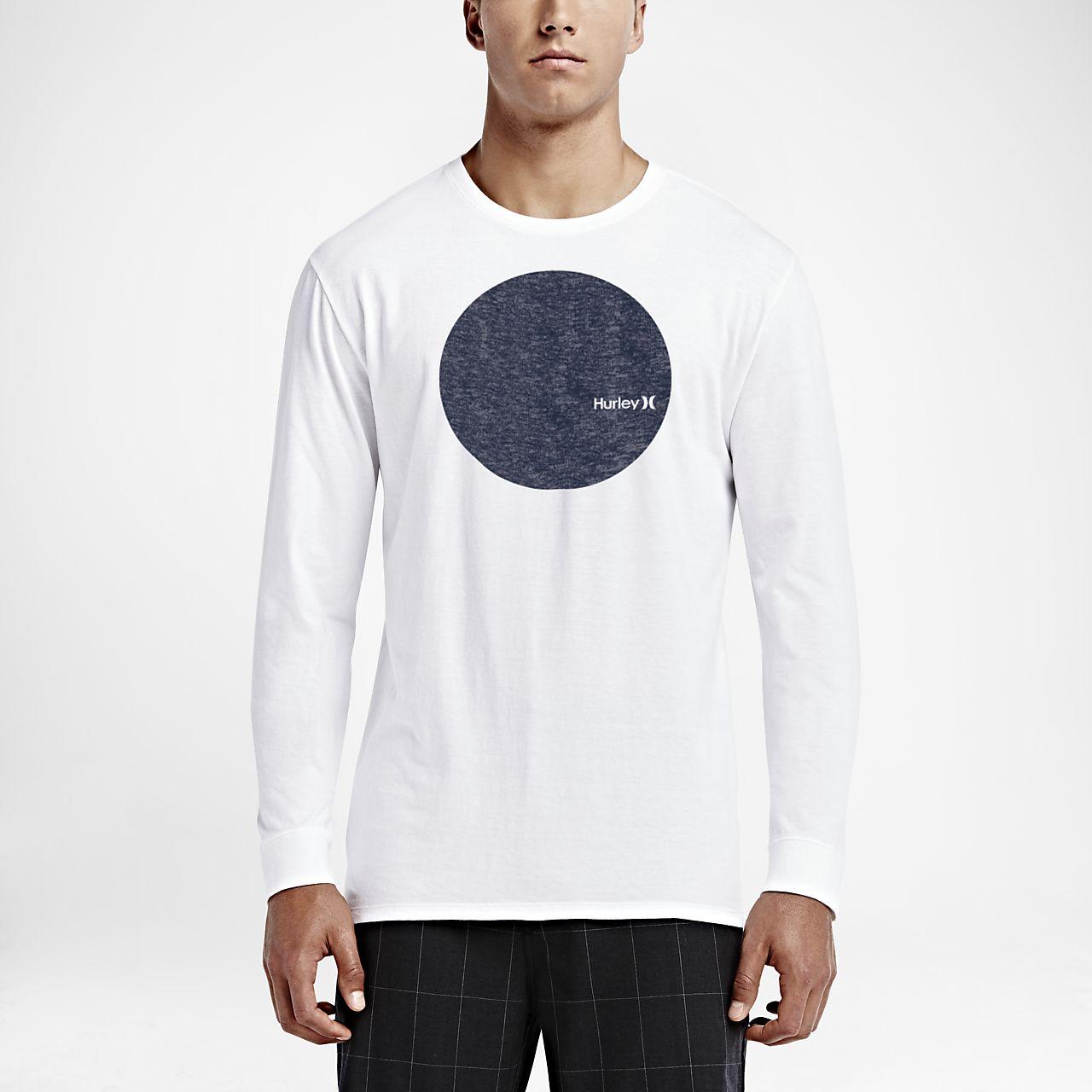 Hurley Circular Men's Long Sleeve T-Shirts White