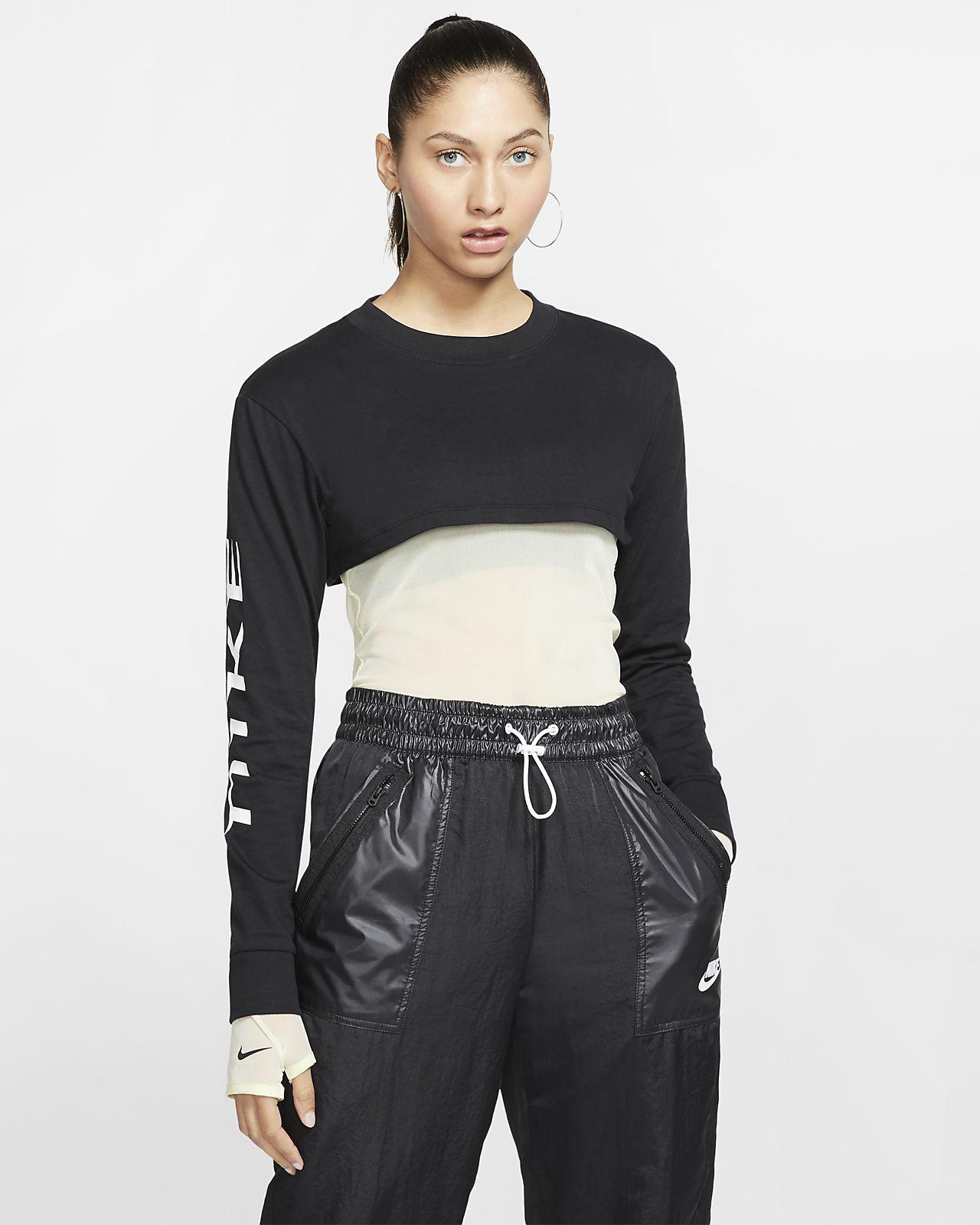 Dámský zkrácený top Nike Sportswear s dlouhým rukávem