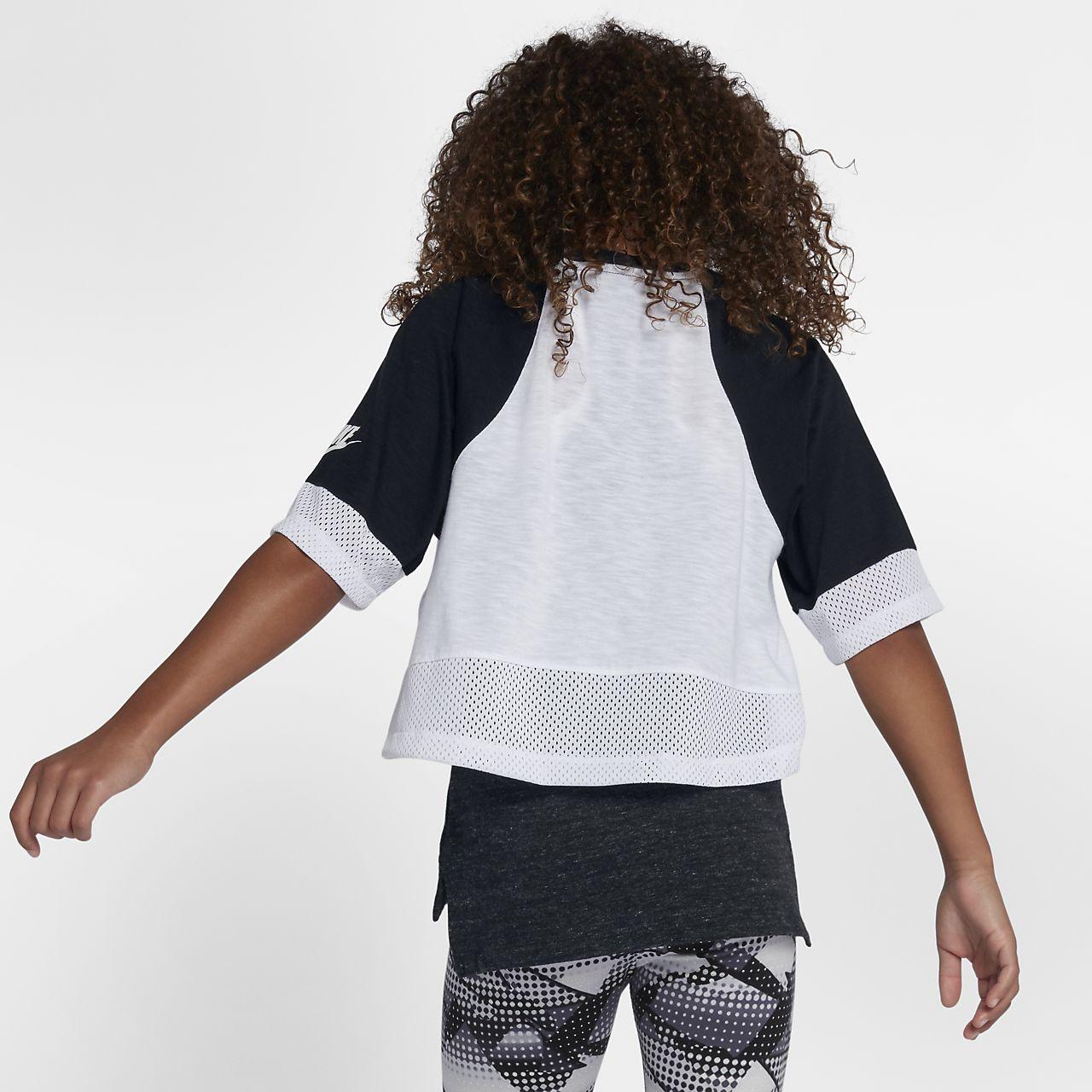 Nike Sportswear Older Kids' (Girls') Short-Sleeve Crop Top