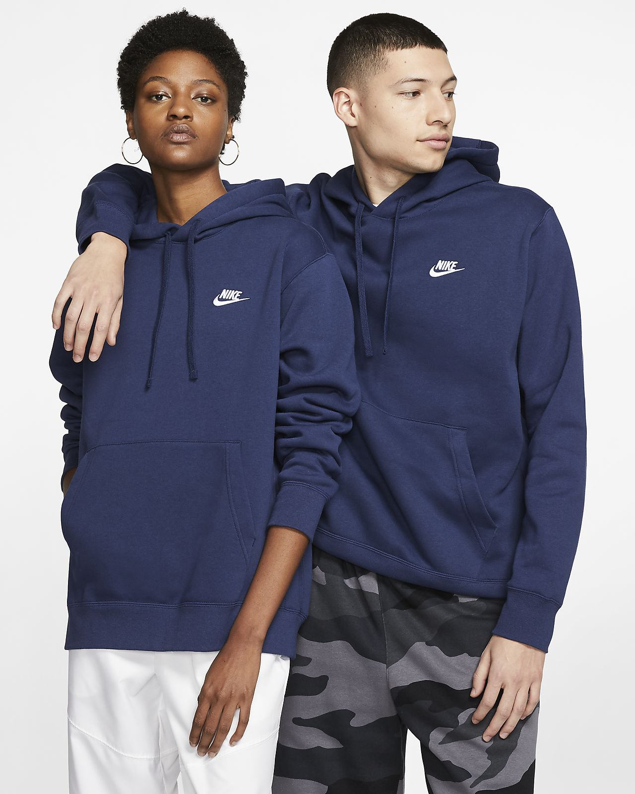 Felpa pullover con cappuccio Nike Sportswear Club Fleece