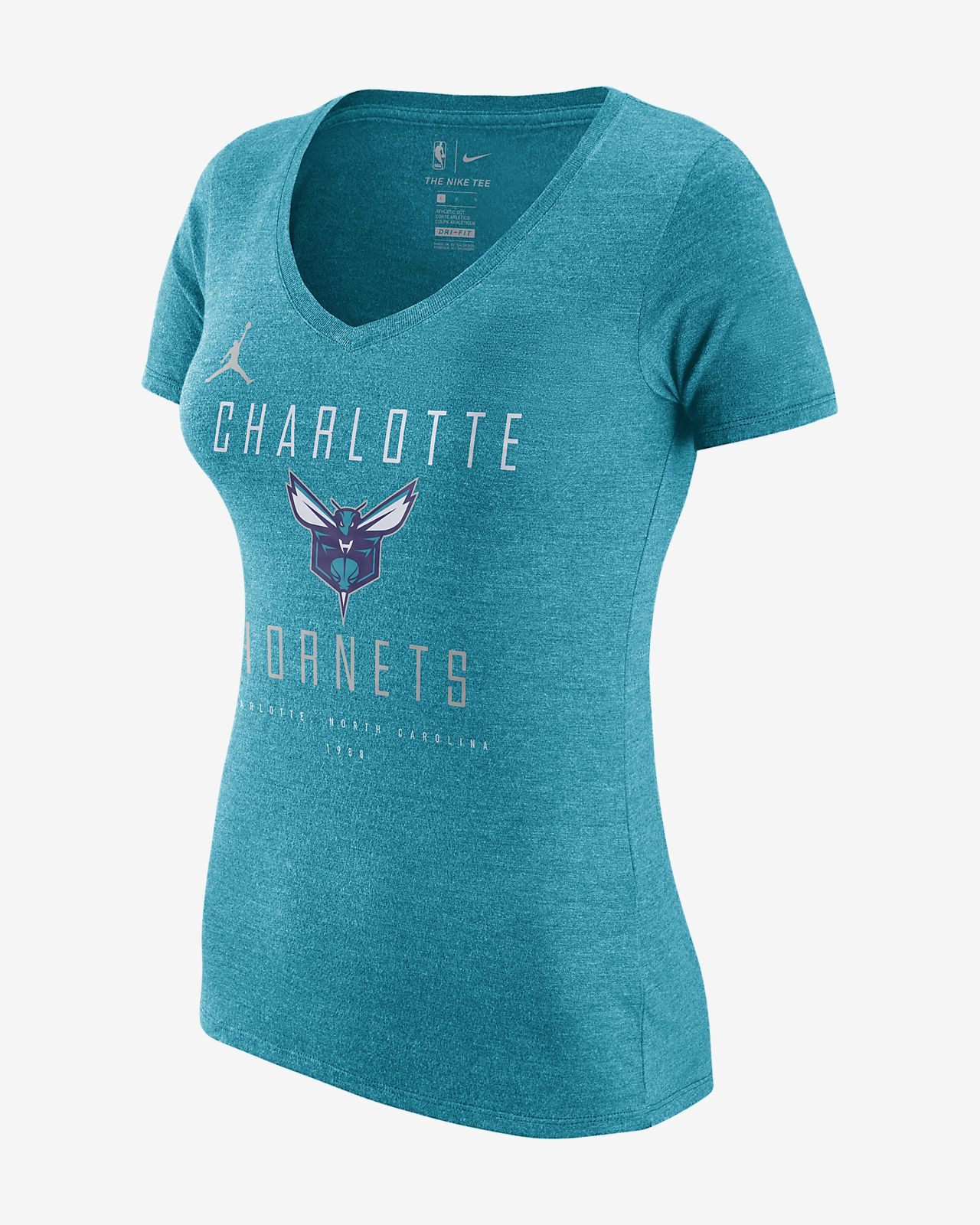 super popular 42870 02cc5 ... Charlotte Hornets Jordan Dri-FIT Women s NBA T-Shirt