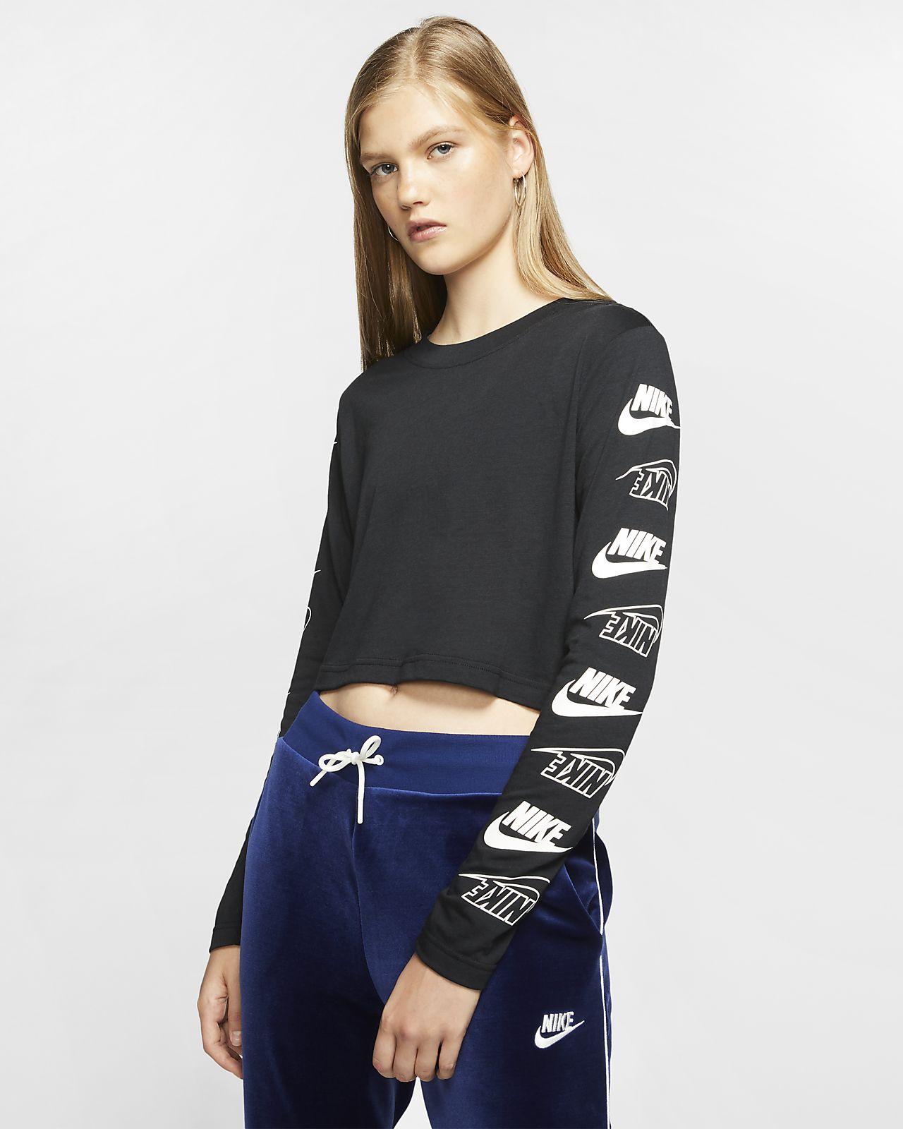 Playera de manga larga para mujer Nike Sportswear