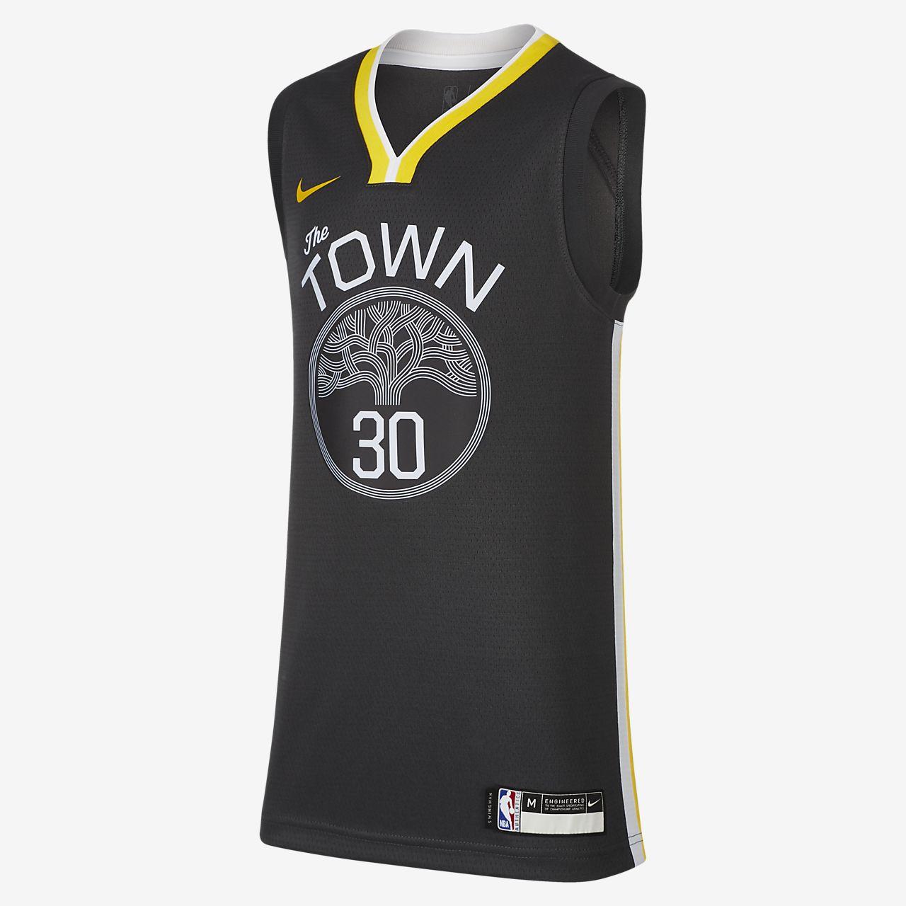 金州勇士队 Statement Edition Swingman Nike NBA Jersey大童 (男孩)球衣