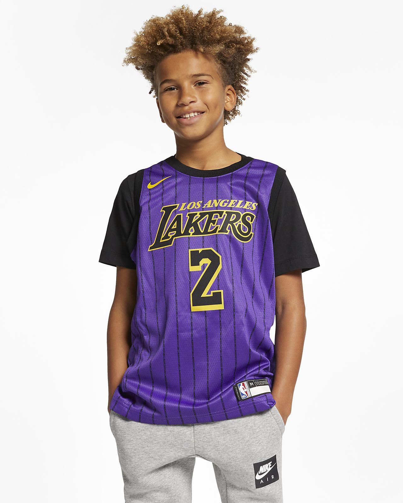 192a5903af1b Los Angeles Lakers City Edition Swingman Big Kids  Nike NBA Jersey ...