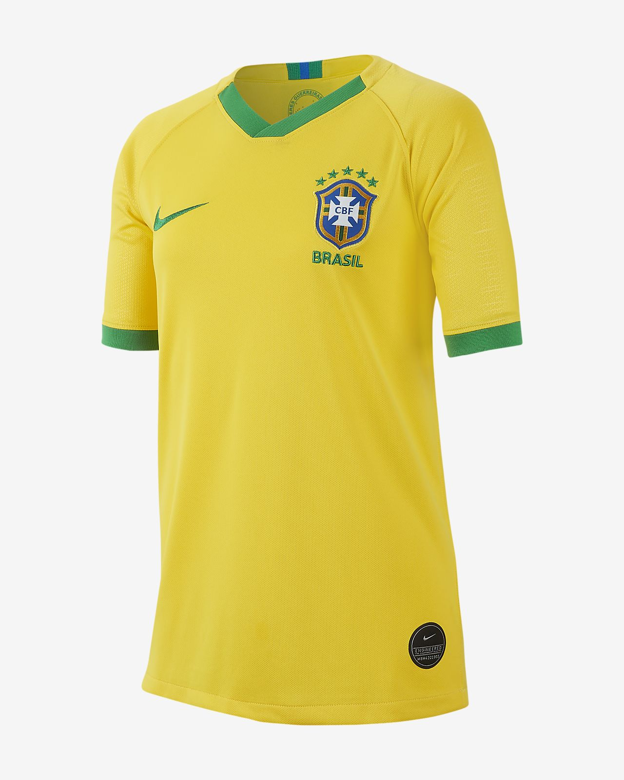 Brasil Stadium 2019 Big Kids' Home Jersey