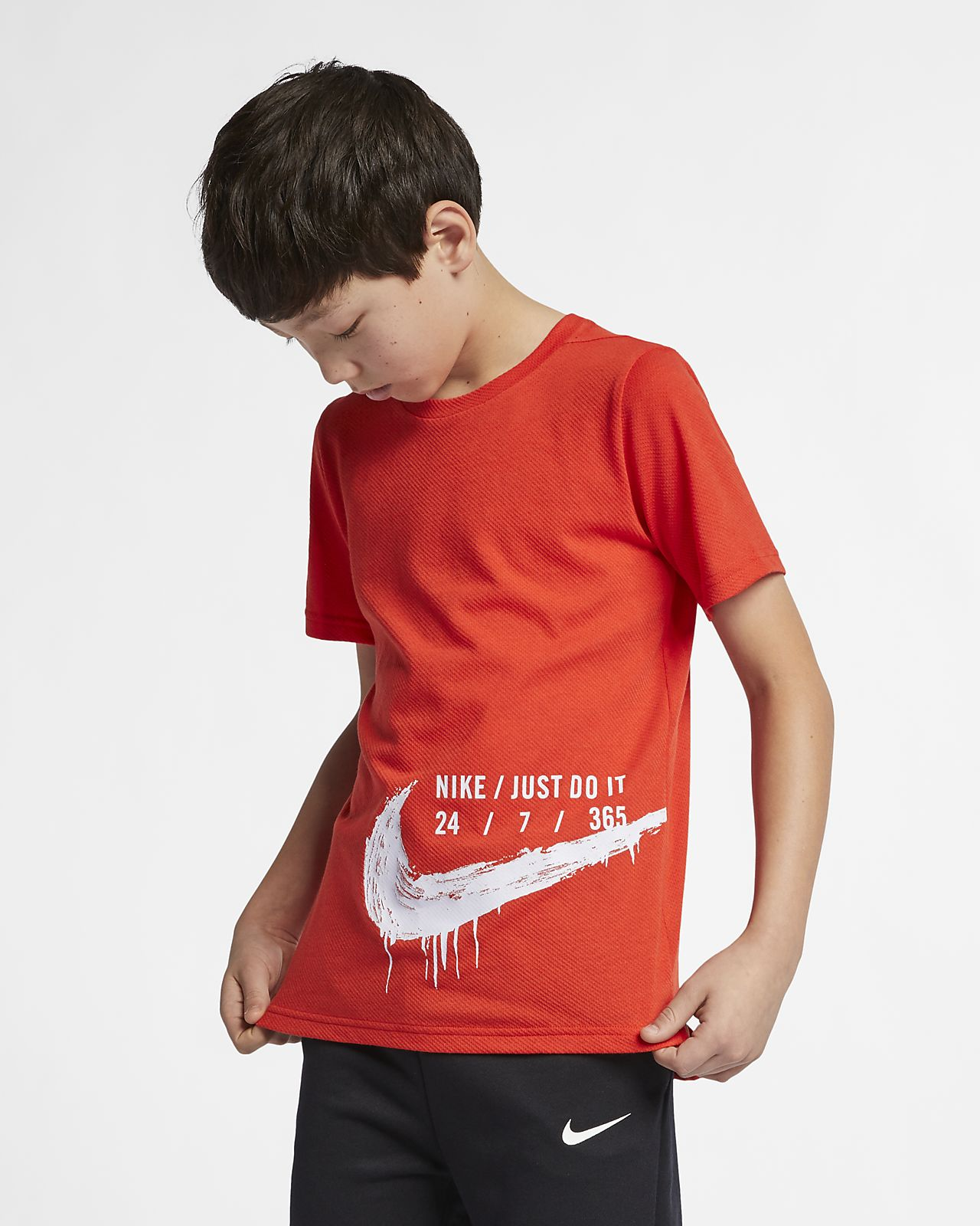 Nike Breathe Big Kids' Short-Sleeve Training Top