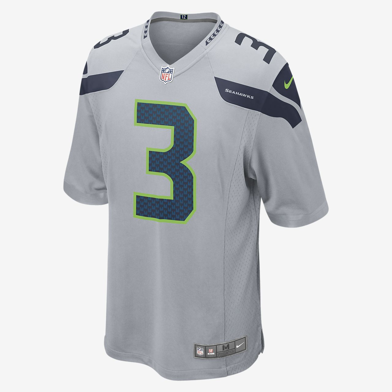 Мужское игровое джерси для американского футбола NFL Seattle Seahawks (Russell Wilson)
