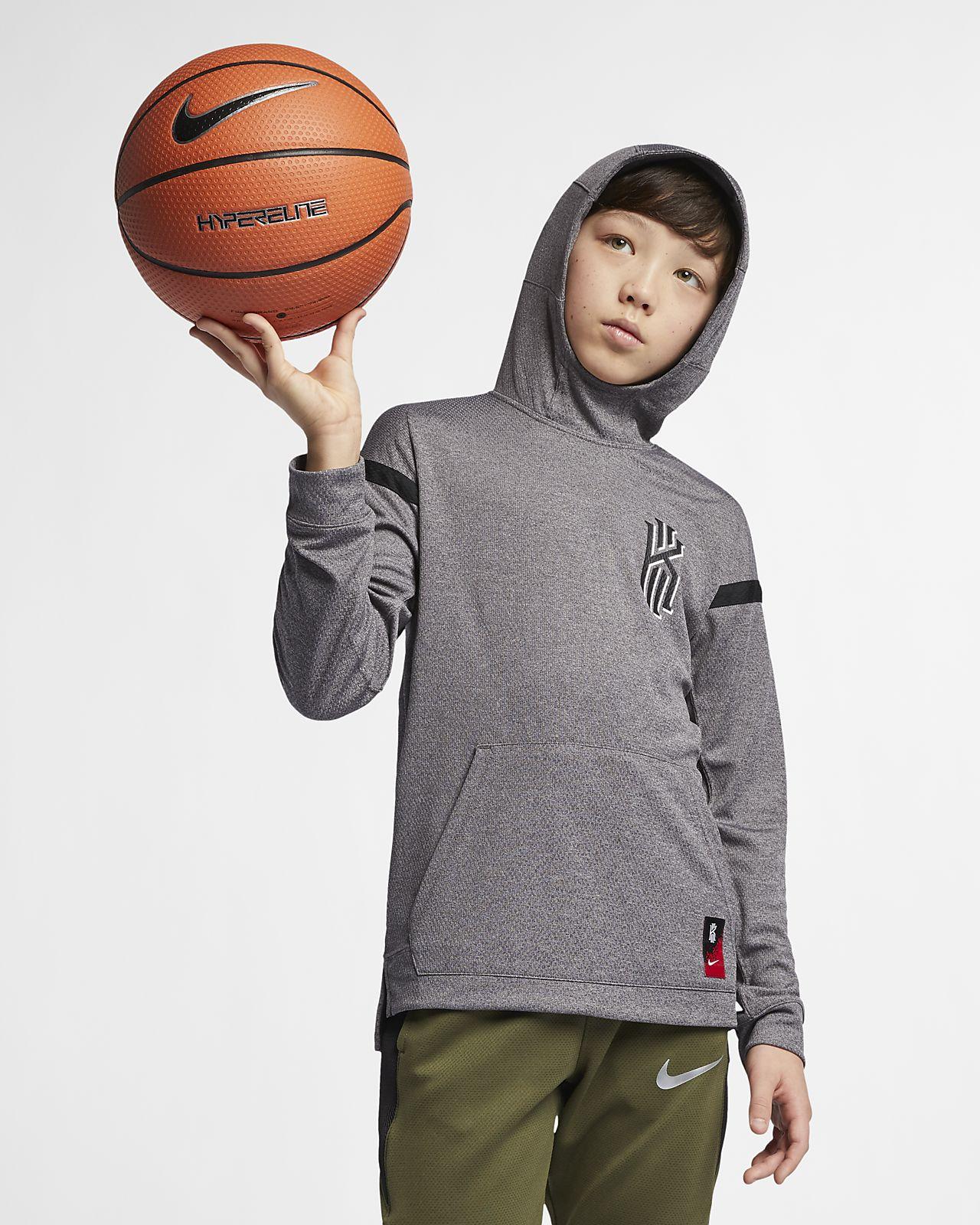 0020c5edaea9 Nike Dri-FIT Kyrie Big Kids  (Boy s) Basketball Hoodie. Nike.com