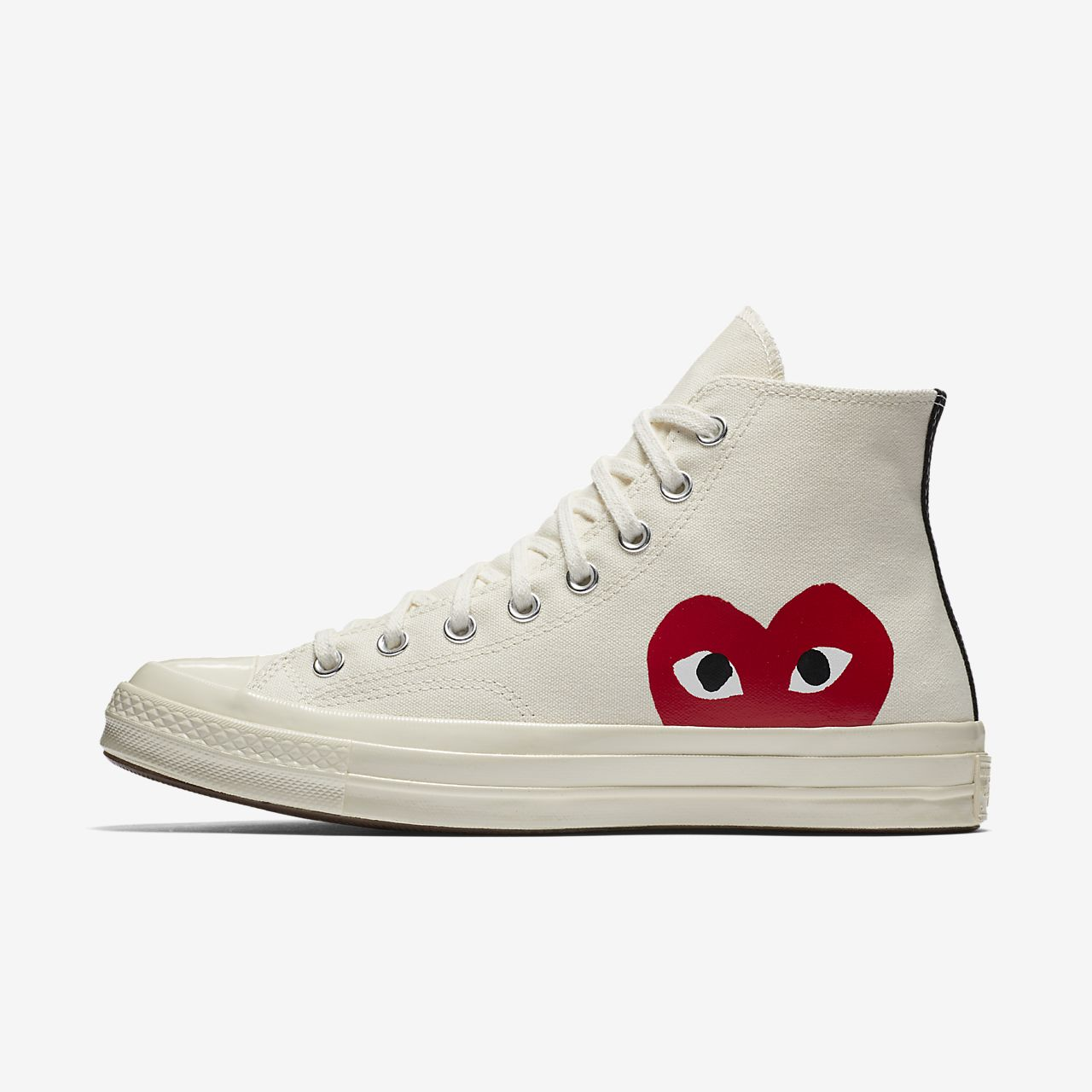 Converse X Comme Des Garcons PLAY Chuck 70 High Top Unisex Shoe