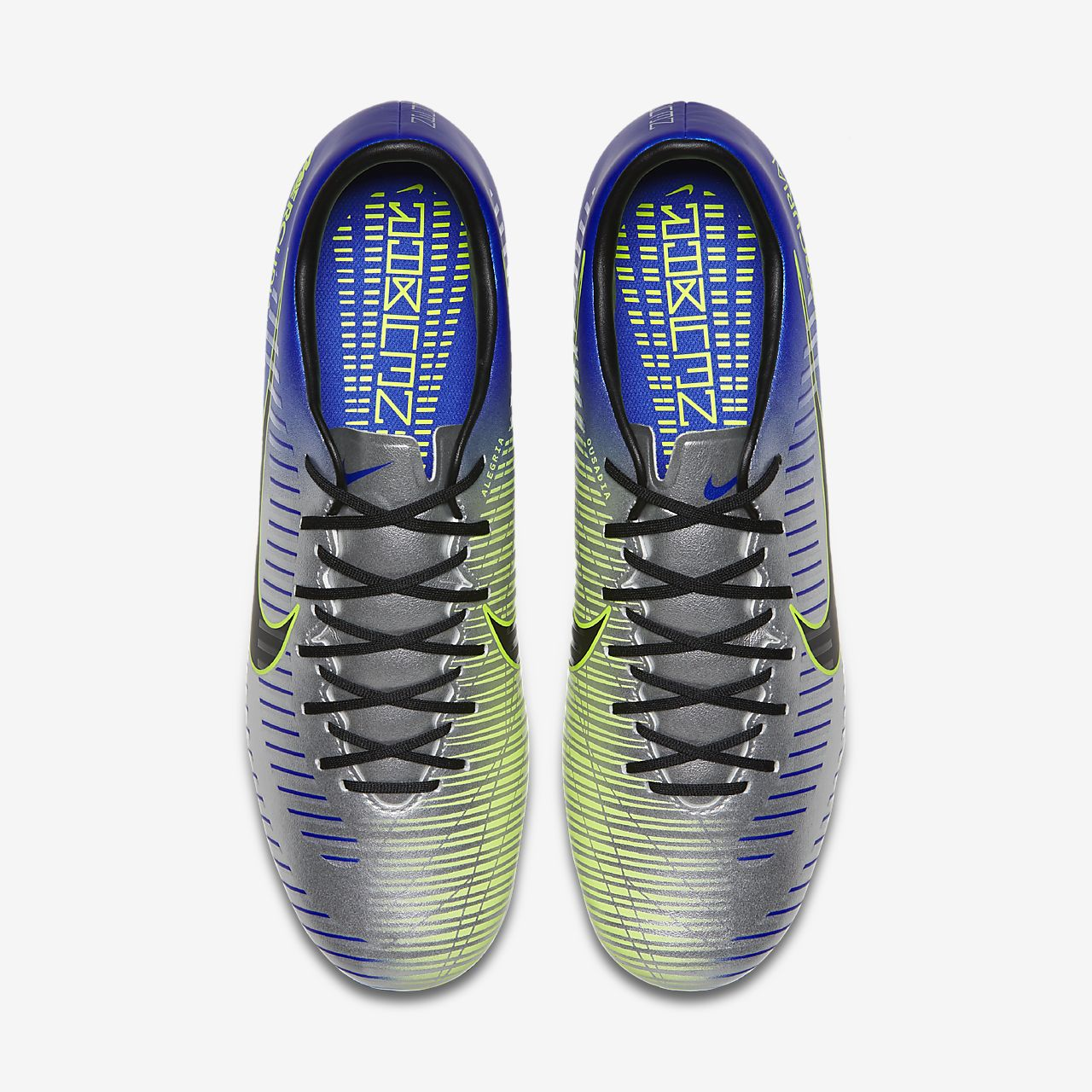 Nike Mercurial Victory VI Dynamic Fit Neymar Firm-Ground Men's Football Boots Blue/Violet/Black oN37