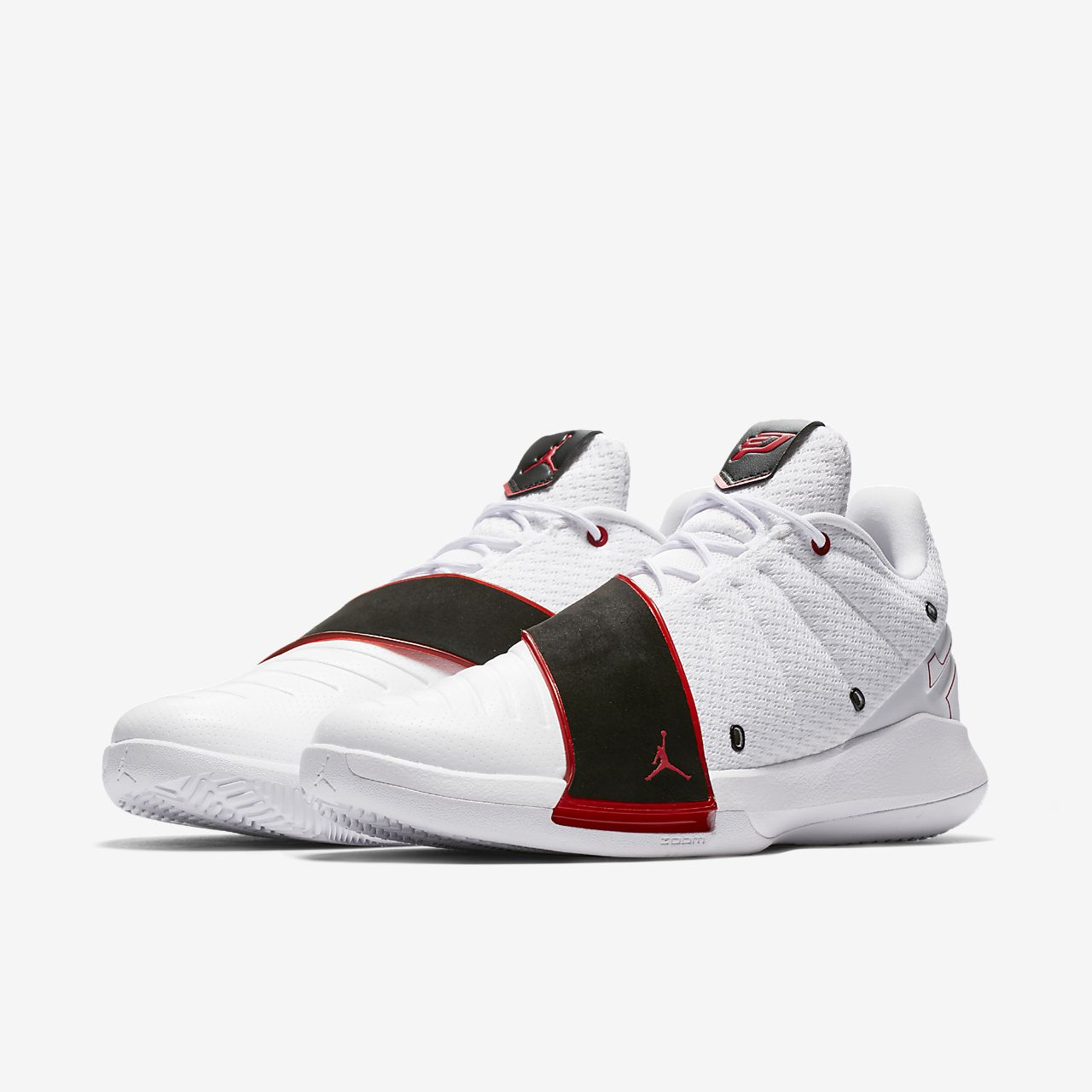 Jordan RELENTLESS - Basketball shoes - white/black/university red fNb234f