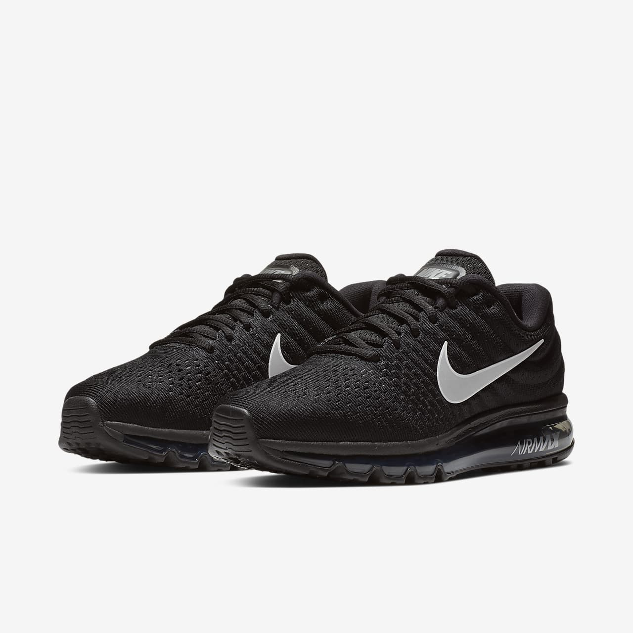 mens black nike air max running shoes