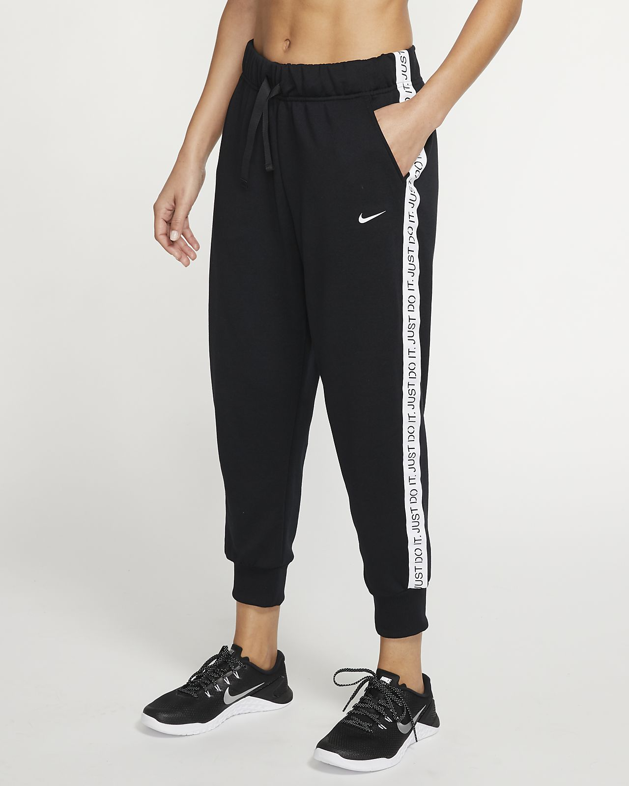 Pantalones de entrenamiento de tejido Fleece 7/8 para mujer Nike Dri-FIT Get Fit