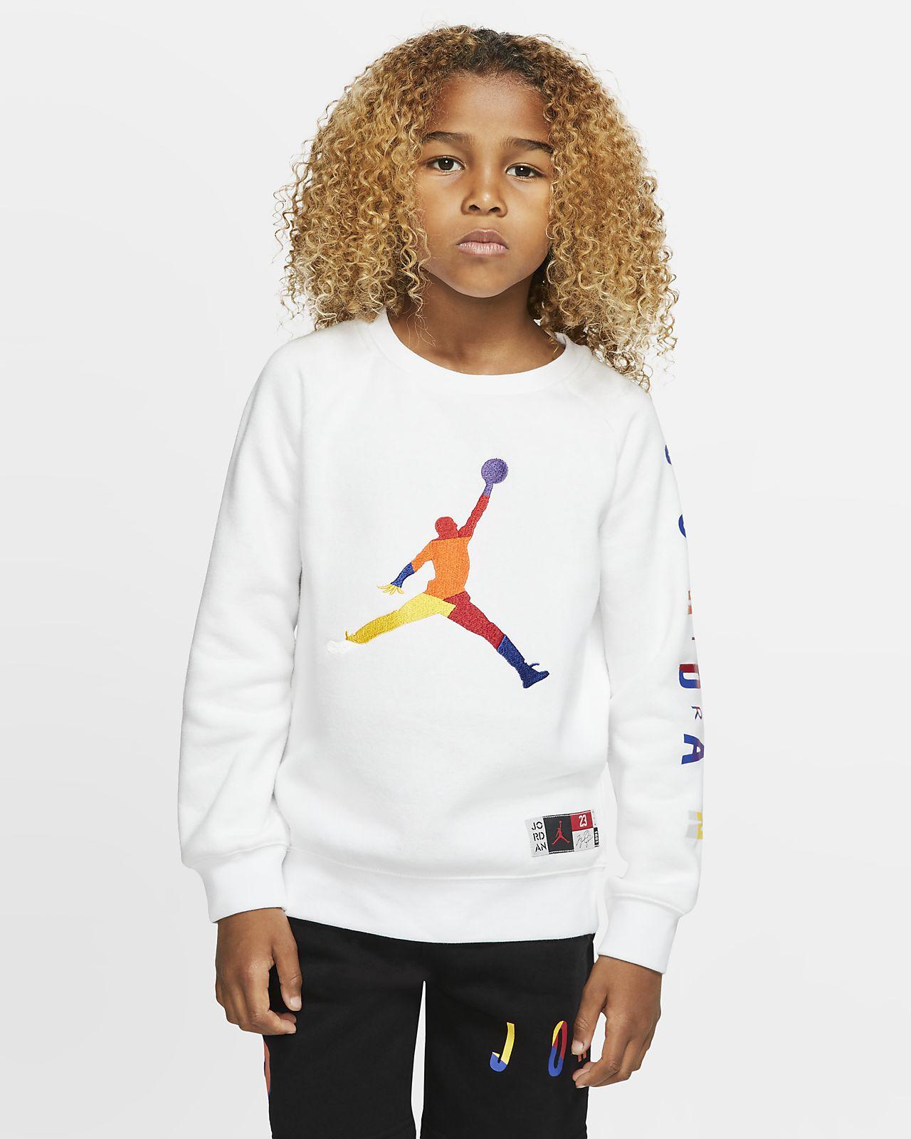Air Jordan Fleeceshirt met ronde hals voor kleuters