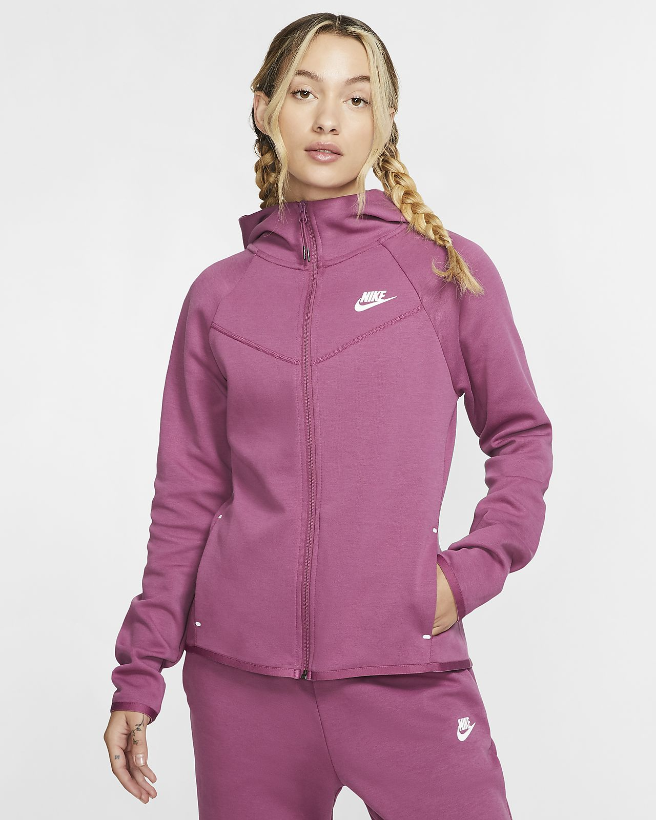 Женская худи c молнией во всю длину Nike Sportswear Windrunner Tech Fleece