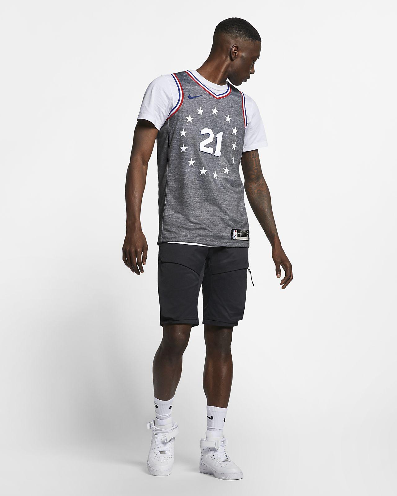 ba9f3e7b488 ... Camiseta conectada Nike NBA para hombre Joel Embiid City Edition  Swingman (Philadelphia 76ers)