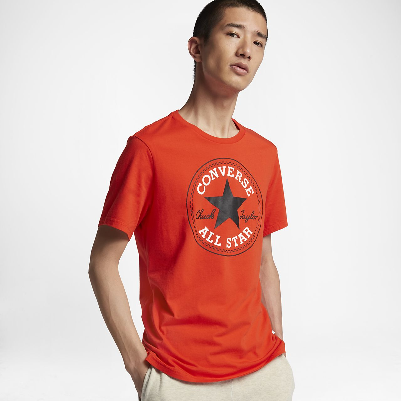 Converse Chuck Patch Men's T-Shirts Red