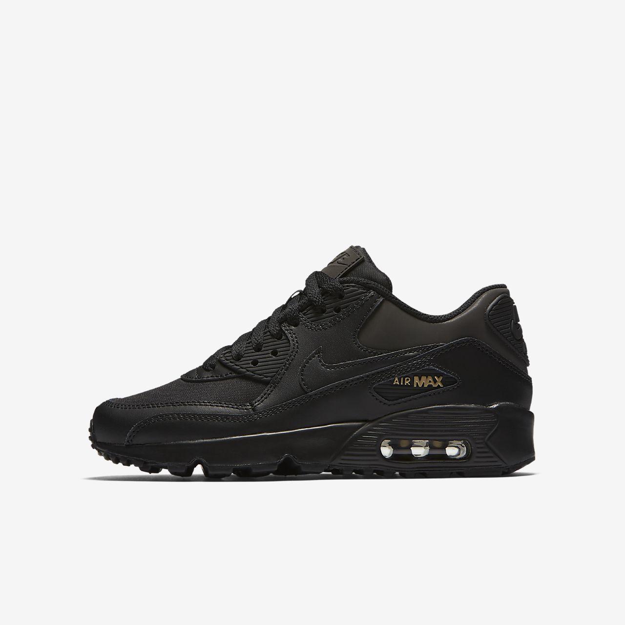 Nike Air Max 90 Premium (AH9345-001) Boy Sneakers Black/Gold