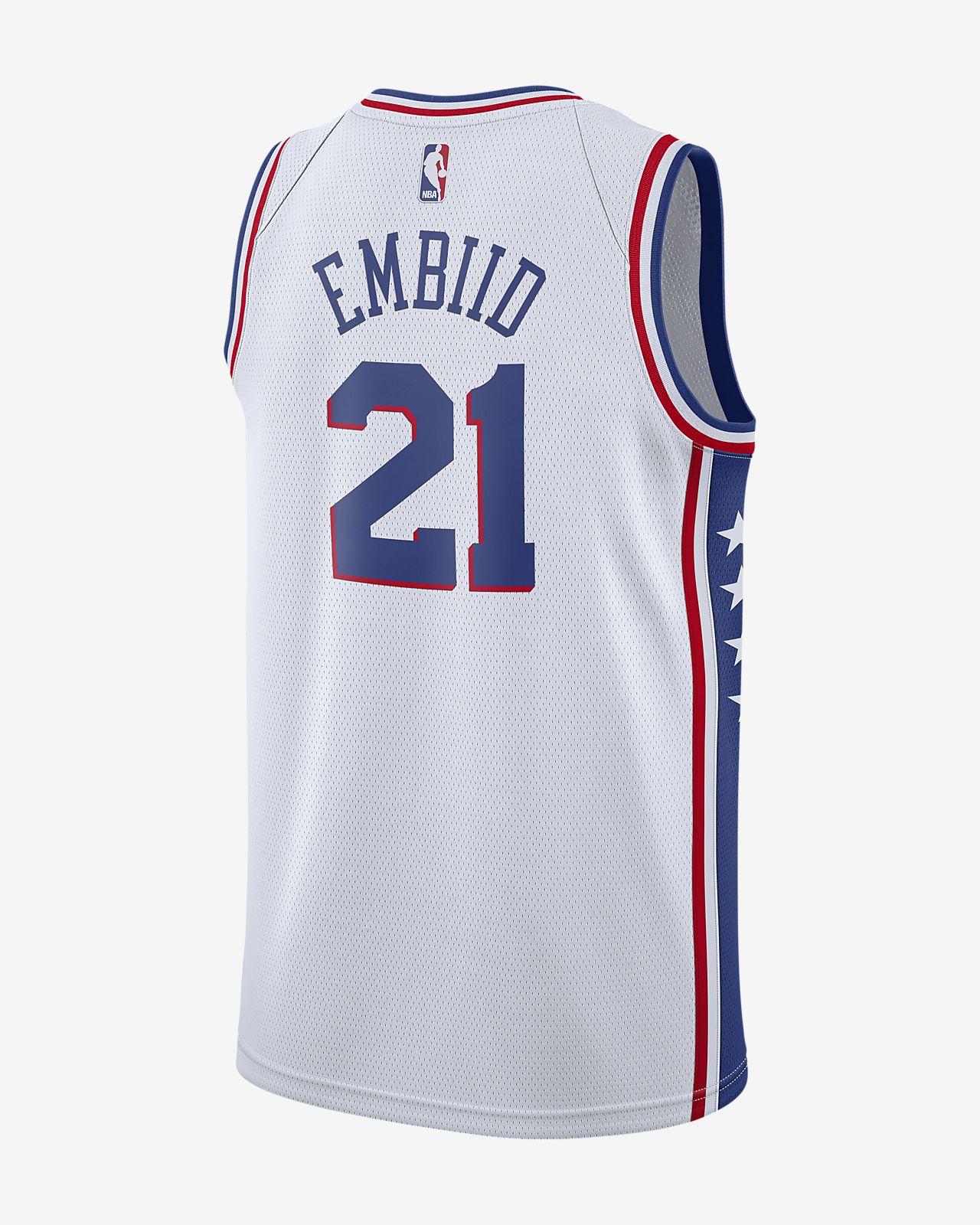 bc5ebaec1 ... Joel Embiid Association Edition Swingman (Philadelphia 76ers) Men's Nike  NBA Connected Jersey