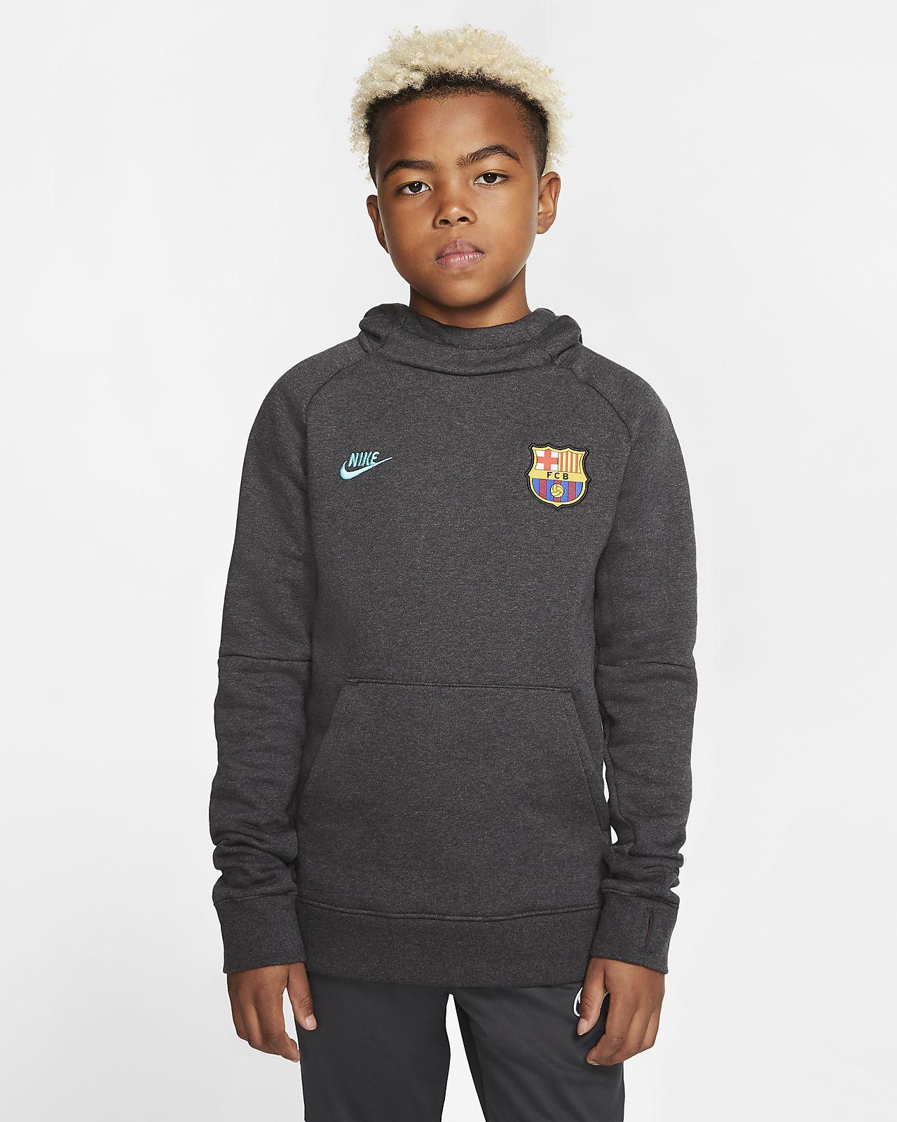 FC Barcelona Older Kids' Fleece Pullover Hoodie