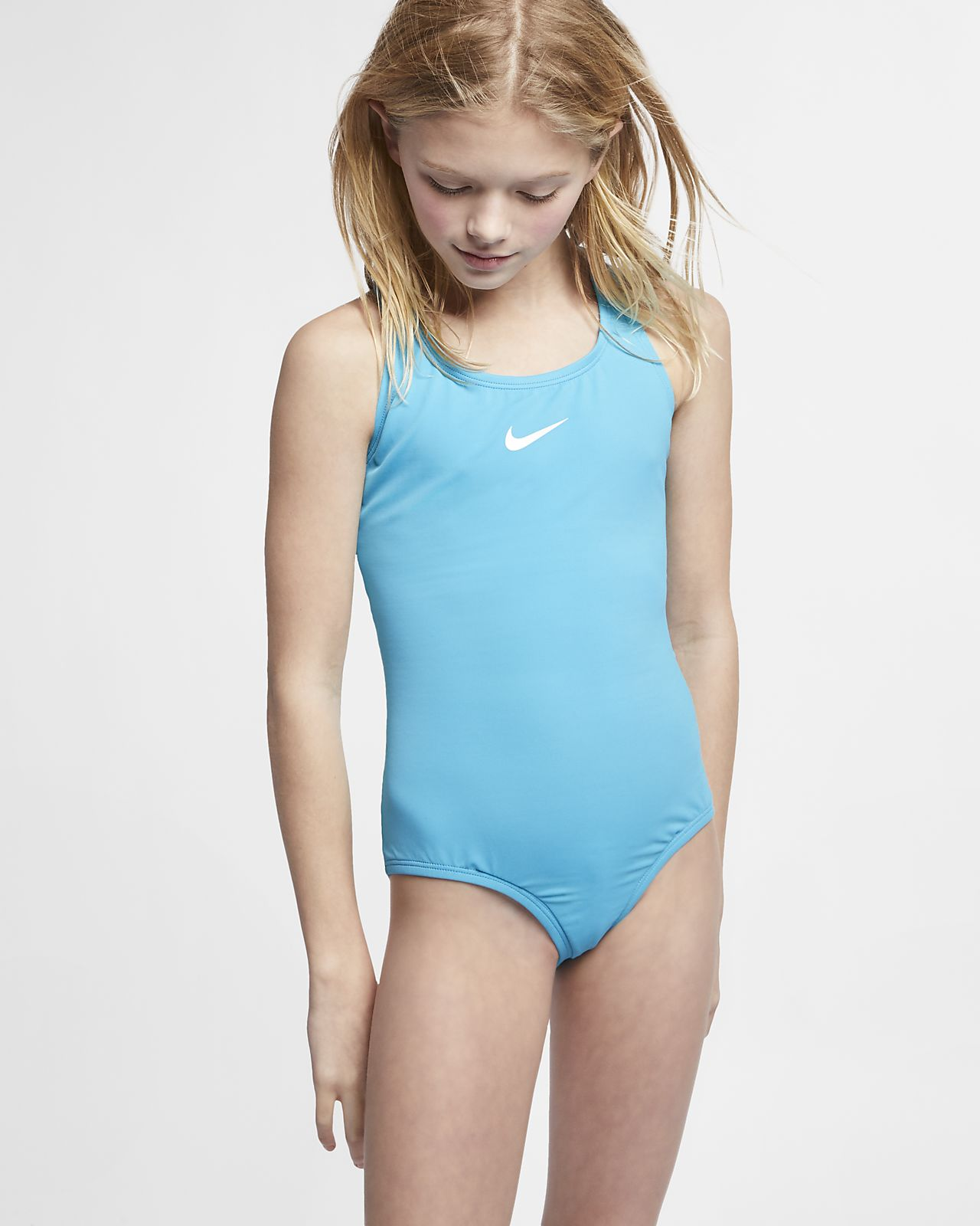 095c15149cf47 Nike Solid Racerback Big Kids' (Girls') Two-Piece Swimsuit. Nike.com