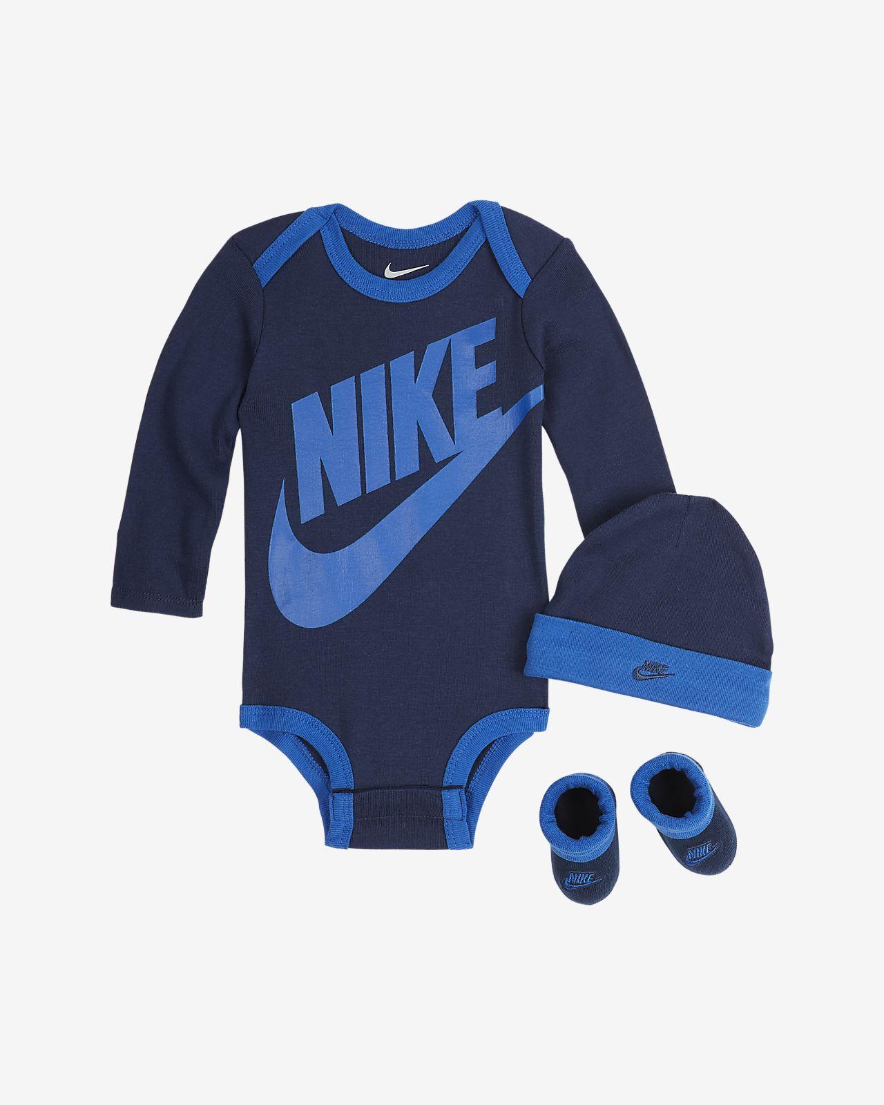 aus und Babys Schühchen Nike BodysuitMütze für Set Rjc3q5SL4A
