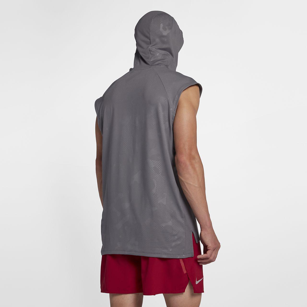 meet 45d43 631d2 ... Sweat à capuche de running sans manches Nike pour Homme