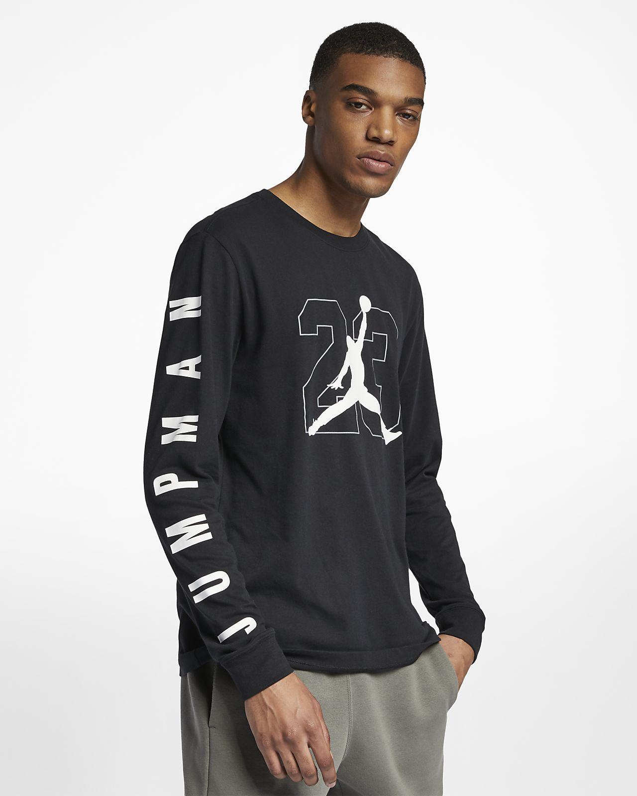 Jordan 男子印花长袖篮球T恤