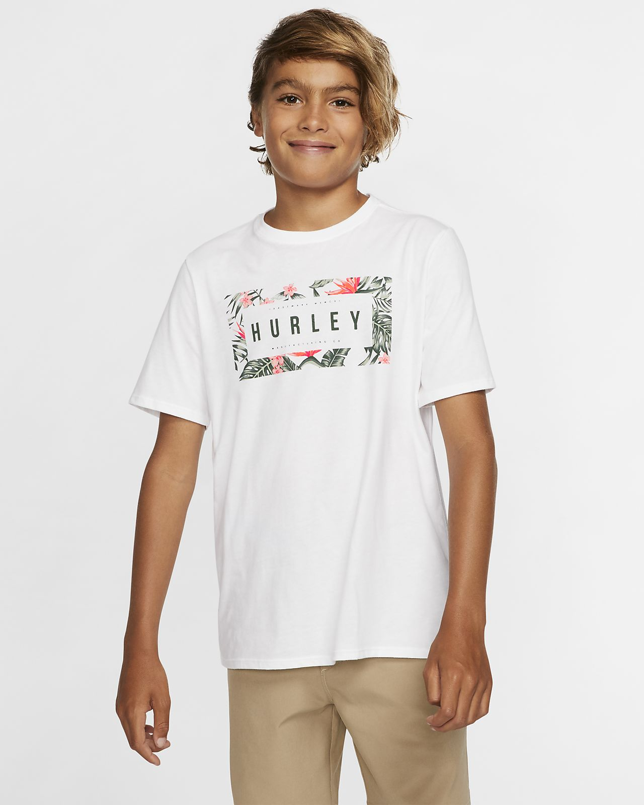 Playera para niño Hurley Premium Flashback Floral