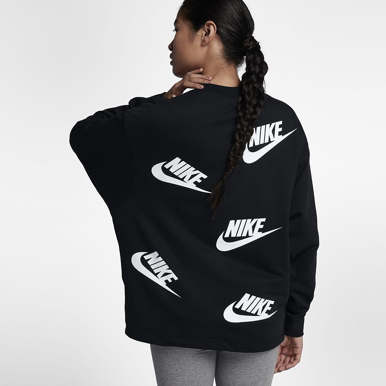 good quality huge inventory good out x Crew Pulls Modern N0nvmwo8 1 Femme Shirt Gris Nike Qmpszvu ...