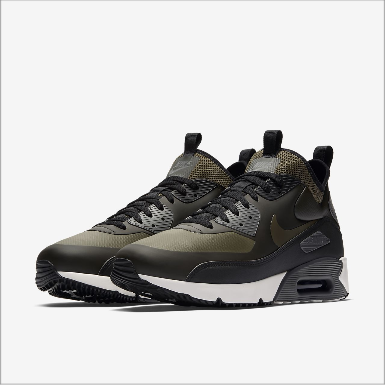nike air max 90 winter in grey suede handbag