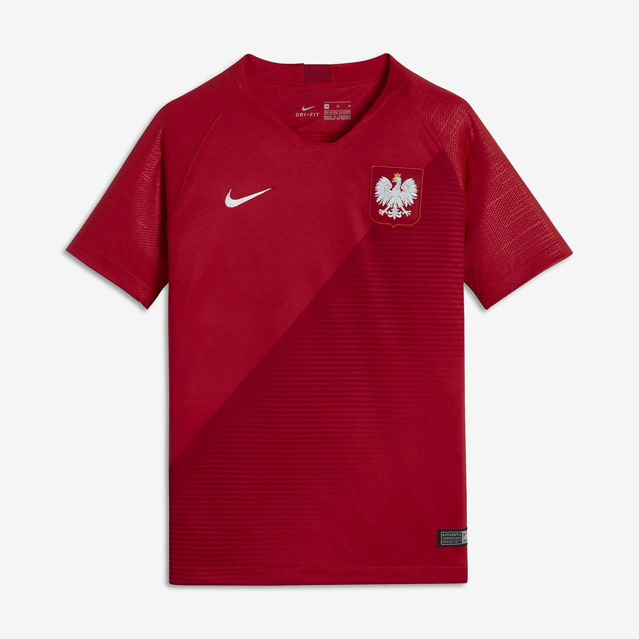 Camiseta de fútbol de visitante para niños talla grande Stadium de Polonia 2018